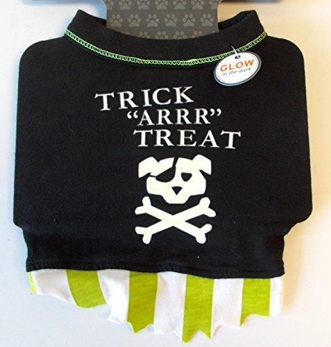 Glow in the Dark Pirate Dog Pet Tee Trick Arrr Treat (Medium) by TARGET ()