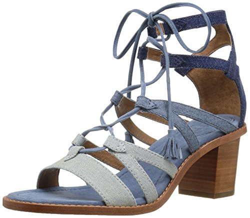 FRYE Women Brielle Gladiator Dress Denim Multi