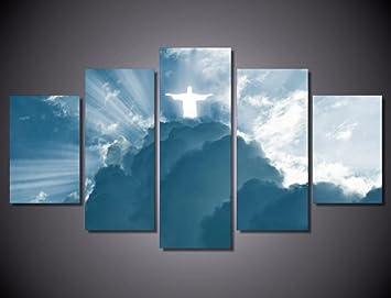 Wandbild Abstrakt Modern Art Bild Wohnzimmer Schlafzimmer Home Decor Jesus  Als Gott Auf Leinwand Kunstdruck
