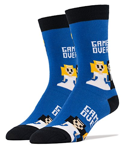 Oooh Yeah Men's Crew Funny Novelty Socks Game Over ()