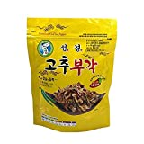 Seaweed Steamed and Fried Raw Hot Pepper 60g x 10packs, Product of Korea 부각