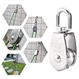 Heyous 2pcs M25 Stainless Steel Single Pulley Block
