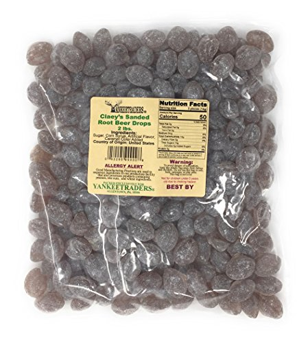 Claeys Sanded Candy Drops, Root Beer, 2 Pound -