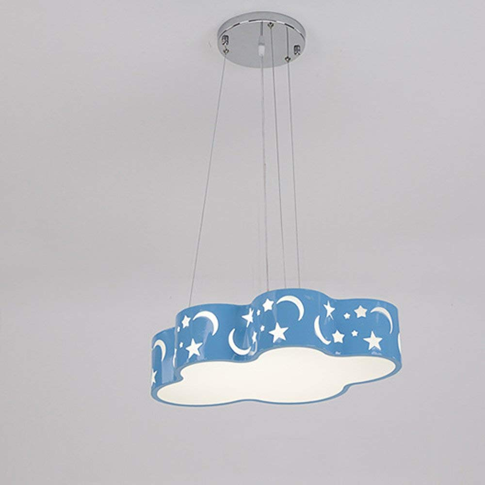 Kreative Jungen und Mädchen Kinderzimmer bunte Wolken mit Kronleuchter Led Schlafzimmer Wohnzimmer Kindergarten Augenschutz Deckenleuchten Anhänger Hängeleuchte (Größe  48  29  10 cm 24 W)