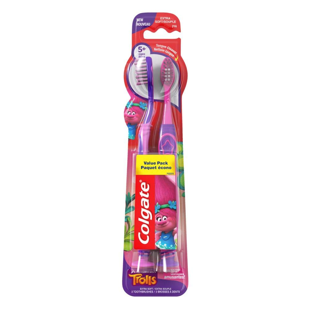 Colgate Kids Toothbrush, Trolls, Extra Soft - 2 count (6 Pack)