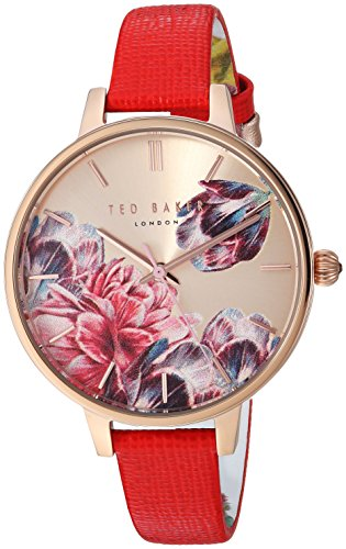 Ted Baker Women's Kate Stainless Steel Quartz Watch with Leather Strap, Multi, 11.2 (Model: TE50005007
