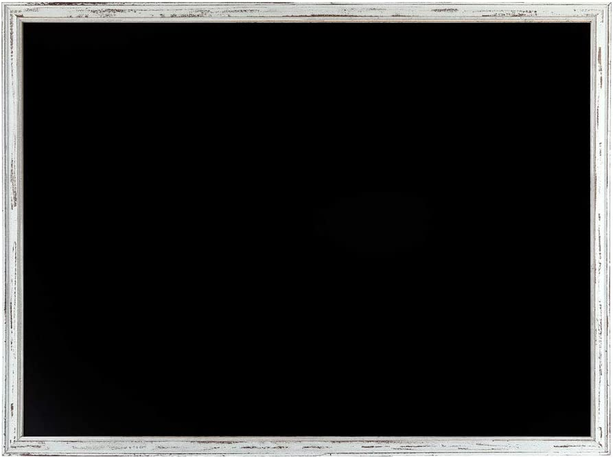 QUEENLINK Chalkboard Black Board, Vintage Framed 36 x 24 Inches,Non-Magnetic, Wall Chalkboard for Office, Home Decor, Wedding,Restaurant Menu,Kitchen and Dorm Room,Classoom White…
