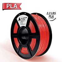Red PLA 3D Printer Filament 1.75mm 1KG Spool(2.2lbs), Dimensional Accuracy +/- 0.02 mm,(Like Chilli Red)- NO Clogging