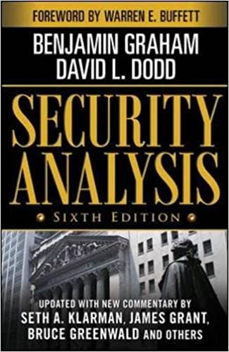 image for Security Analysis: Sixth Edition, Foreword by Warren Buffett (Security Analysis Prior Editions)