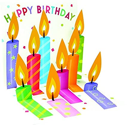 Amazon 1 X Happy Birthday Candles Treasures Pop Up Greeting Card Office Products
