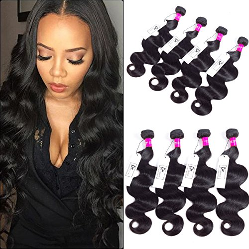 CHEEON Peruvian Virgin Hair Body Wave 20 22 24 26 Inches 8A Grade Unprocessed Human Hair Bundles Body Wave Virgin Hair 100g/bundle Natural Color by CHEEON