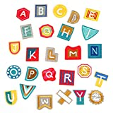 Ziitai 2 Set Alphabet A-Z 26 Pcs DIY Embroidered Letter Patches, Iron-On Patch Applique Patches for Jackets Clothing Bags DIY Crafts