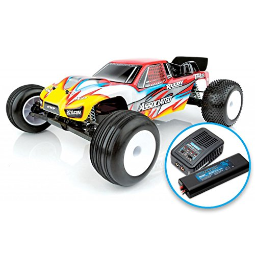 1/10 RC10T4.3 2WD Stadium Truck Brushless LiPo Combo RTR, Red
