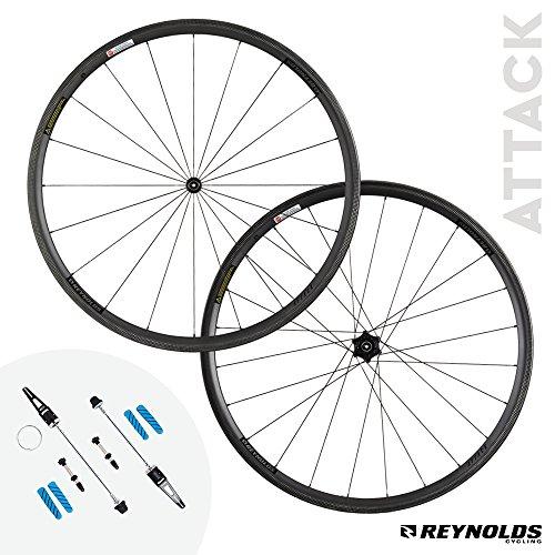 Reynolds Cycling Attack Rim Brake Carbon Fiber Wheelset for Road Bikes, Shimano Compatible (Wheels Bike Reynolds)