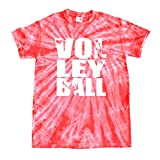 JANT girl Volleyball Tie Dye T-Shirt Stacked Logo