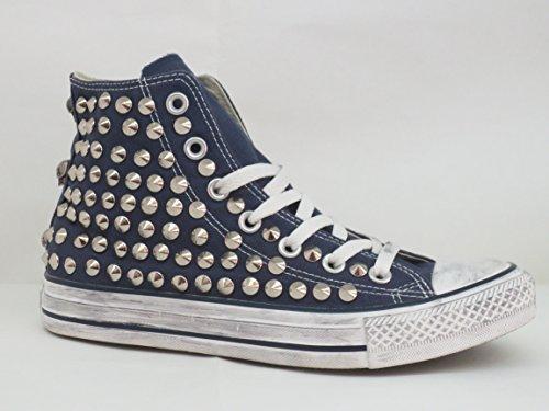 Converse all star Borchie borchiate blu navy( prodotto artigianale )
