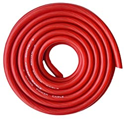 Soundbox Connected 4 Gauge Red Amplifier Amp Powerground Wire 25 Feet Superflex Cable 25'