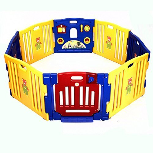 Baby Playpen Kids 8 Panel Safety Play Center Yard Home Indoor Outdoor New Pen by Playards from Goplus