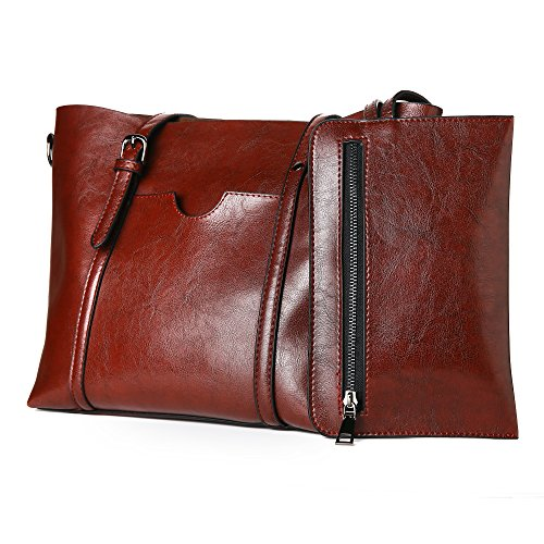 Bag DarkRed Casual Purse Bag Handbags Shoulder Women Vintage Tote vd8xvR