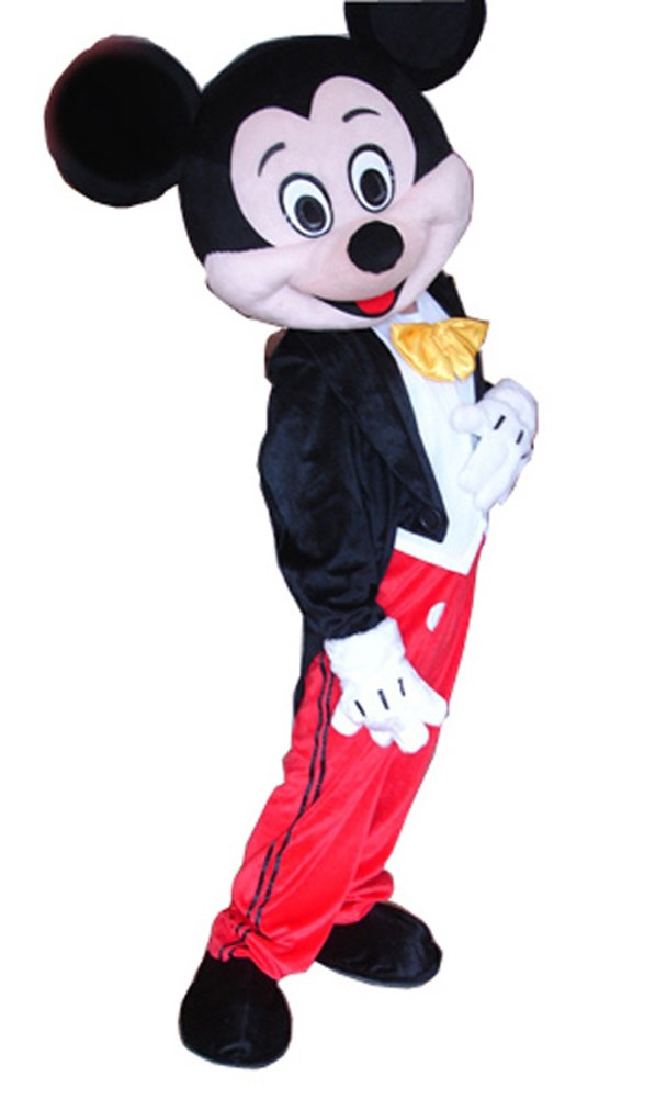 JWUP Classic Design Mickey Mouse Mascot Costume Cosplay Cartoon Character Adult Size