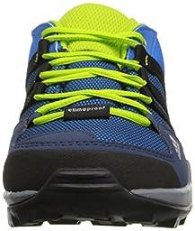 adidas Outdoor AX2 Climaproof Hiking Shoe (Little Kid/Big Kid), Shock Blue/Black/Semi Solar Slime, 11 M US Little Kid