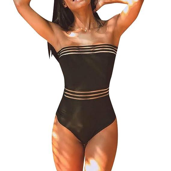 Btruely Trajes de Baño Mujer 2019 Enteros Bañador para Mujer Halter Beach Trajes de Baño Mujer Una Pieza de Moda Bikini Mujer Push Up Ropa de Mujer ...