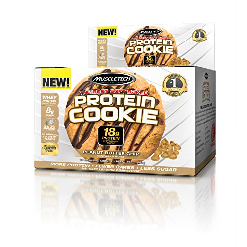 MuscleTech Soft Baked Whey Protein Cookie, Peanut Butter, Gluten-Free, 3.25-ounce (Pack of 6 - 92g)