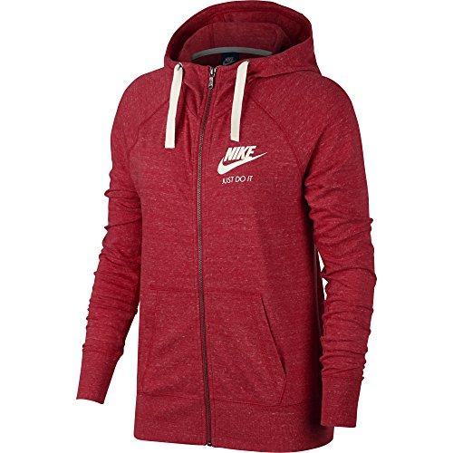 NIKE Sportswear Gym Vintage Hoodie (X-Large, University Red/Sail)