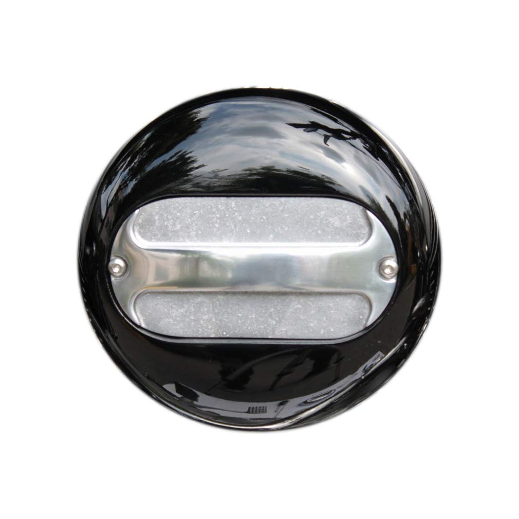 FORK マルチフェイスエアクリーナー Black/Bar スポーツスター'91~CVキャブ 1143-22   B07GVFPQ77