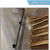 Ronda Negro Barandilla Escalera con kit completo  Entablado Barandas for interiores y exteriores  Escaleras pasamanos  Mango escalera  Jardín Balcón Baranda (30-300cm) AAA++++ (Size : 30cm): Amazon.es: Bricolaje y herramientas