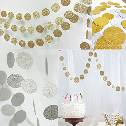 Circle-GarlandCircle-Dots-Paper-GarlandGlitter-Paper-Garland-Circle-DotsHanging-Decor-Gold-and-silver-circle-dots-paper-garlandChristmas-Garland2-PackGold-silver