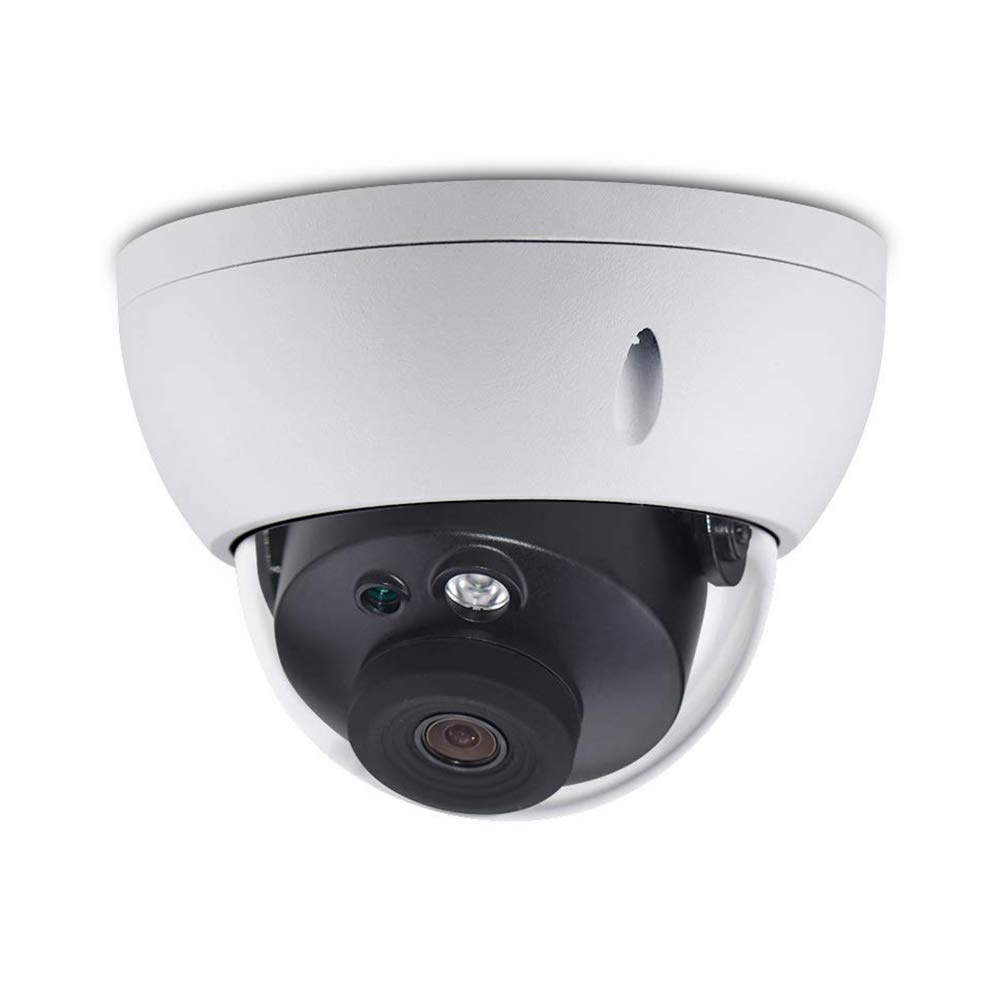 6MP HD Security POE IP Dome Camera OEM IPC-HDBW4631R-S,2.8mm Fixed Lens Smart H.265, Micro SD Card Recording 165ft Smart IR Night Vision, WDR DNR, IP67 IK10,ONVIF