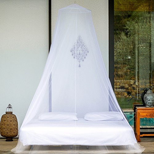 EVEN Naturals MOSQUITO NET for Bed, for Twin, Queen to California King Size, Bed Canopy Curtains, EXTRA LARGE White Mosquito Netting with 2 Openings, Easy Installation, Carry Bag