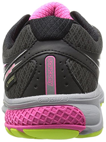 Pink Running Shoe Black Saucony Women's Ride 9 Grey GTX 6qazxZ