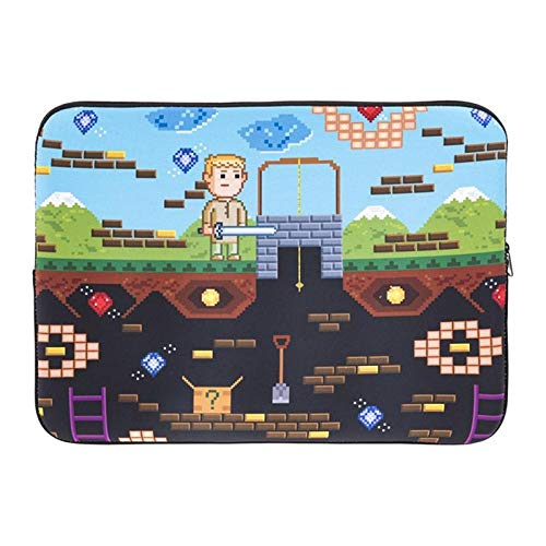 Creative Laptop Bag, Fashion Luxury Design Cartoon Series Ultra-Thin Waterproof Portable Computer and Tablet Shoulder Bag Messenger Bag for Women and Men, Suitable for Sizes Below 14 Inches ()