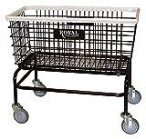 Laundry Hamper Cart, Black, 500 lb.