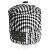 Pressure Cooker Cover - Custom Made Accessories - Fits 6 QT Instant Pot Models (Black and White Gingham)