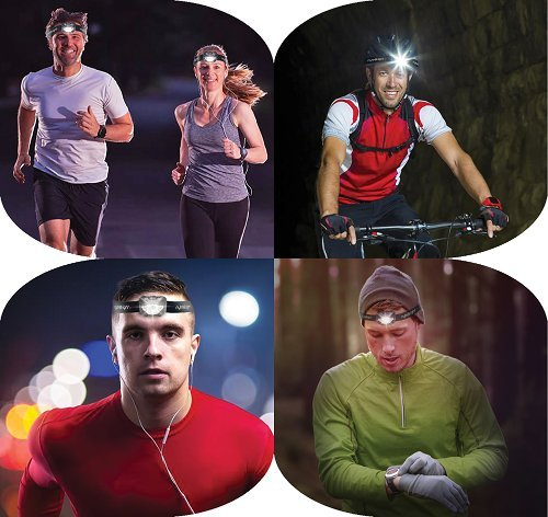 LED Headlamp Flashlight with Red Light – Brightest Headlight for Camping Hiking Running Backpacking Hunting Walking Reading - Waterproof Headlamps - Best Work Head Lamp Light with FREE Batteries! by nyteBright (Image #8)