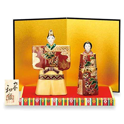 Japanese drawn Ceramic Porcelain kutani ware. Hina ningyo doll displayed during the Girls' Festival '' Japanese ceramic Hagiyakiya 1445