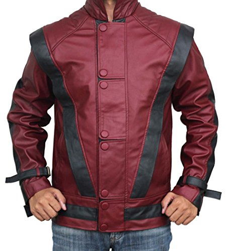 Red Leather Thriller Jacket For Men - Birthday Gift Ideas (L) by BlingSoul (Image #2)