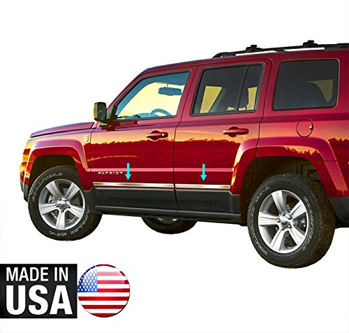 Made In USA! 07-2015 Jeep Patriot Lower Accent Body Side Molding Trim 1