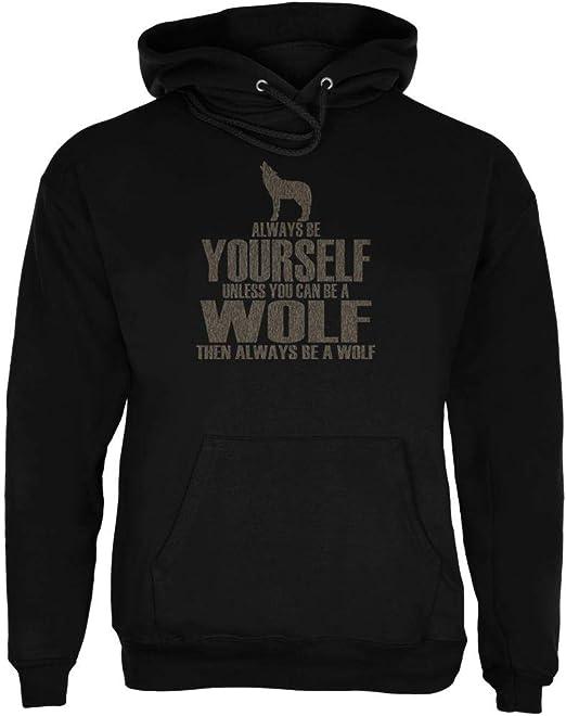 Always be Yourself Hyena Black Adult Hoodie