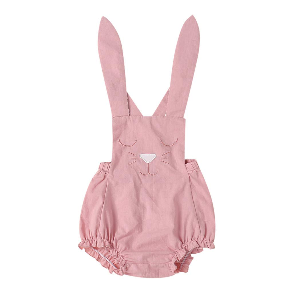 Mysky Easter Popular Newborn Infant Baby Summer Cute Cartoon Rabbit Cotton Romper Bodysuit