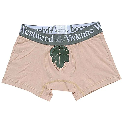 Vivienne Westwood Boxer Brief Leaf Beige VW-118 Men's underwear L(84-94) by Vivienne Westwood