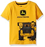 John Deere Baby Toddler Boys' Graphic Tee, Construction Yellow, 2T