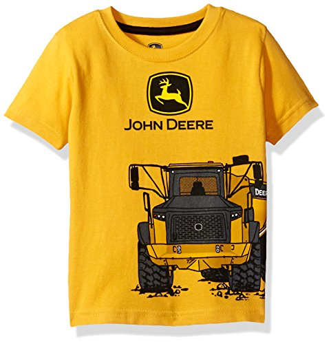 John Deere Baby Boys' Toddler Graphic Tee, Construction Yellow 3T