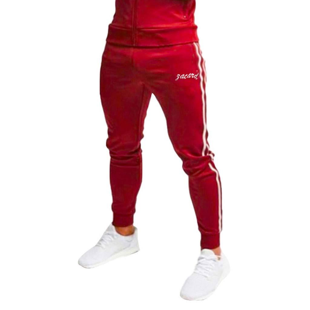 beautyjourney Pantalones de Jogging para Hombres Pantalones de ch/ándal al Aire Libre Pantalones Deportivos para Correr Pantalones de Ocio Deportivos con Rayas el/ásticas