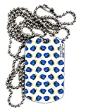 TooLoud Blue Tang Fish AOP Adult Dog Tag Chain Necklace - 6 Pieces