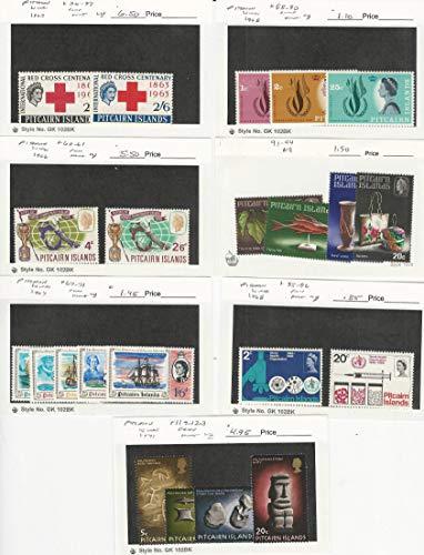 Pitcairn Islands, Postage Stamp, 36//123 Mint NH & LH, 1963-71, JFZ