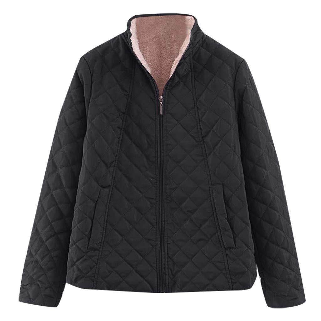 Spring Color  Women's Winter Diamond Long Sleeve Baseball Jacket Bomber Cotton Quilted Biker Zip Up Short Coat Black by 🍒 Spring Color 🍒